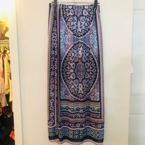 Boho Chic Flow Maxi Skirt from Express XS